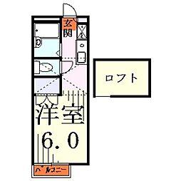 埼玉県川口市芝西1丁目の賃貸アパートの間取り
