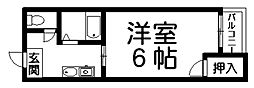 ヴェール天王寺[6階]の間取り