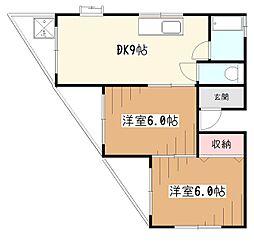 スズヤハウス[2階]の間取り