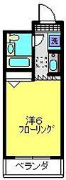 神奈川県横浜市港北区日吉1丁目の賃貸マンションの間取り
