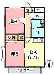 サンヴィラ菊[2階]の間取り