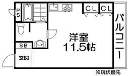 クリア星丘I[2階]の間取り