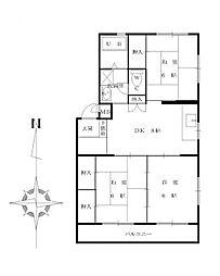 車屋第5ビル[106号室]の間取り