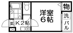 プラザ高柳1号館[3階]の間取り