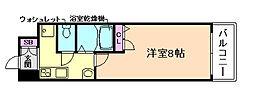 ドルチェヴィータ北梅田[3階]の間取り