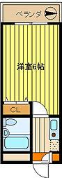 第10新井ビル[502号室]の間取り