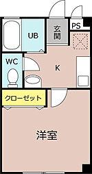 ウェストリバー1[3階]の間取り