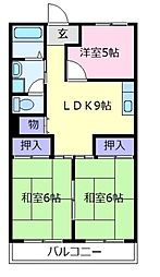 コーポ半田[5階]の間取り