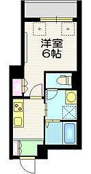 東京メトロ千代田線 町屋駅 徒歩8分の賃貸マンション 1階1Kの間取り