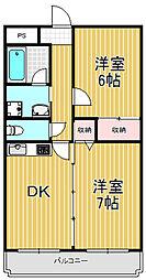 菱屋西レジデンス[3階]の間取り