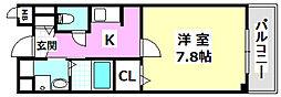 大阪モノレール彩都線 彩都西駅 徒歩12分の賃貸マンション 1階1Kの間取り