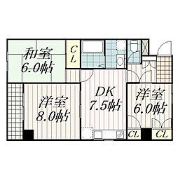 幕張本郷マンション[3階]の間取り