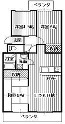 エスポワールTIマンション[3階]の間取り