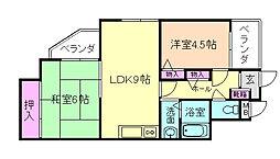 大阪府豊中市庄内栄町1丁目の賃貸マンションの間取り
