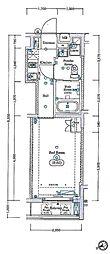 西武新宿線 新井薬師前駅 徒歩3分の賃貸マンション 1階1Kの間取り