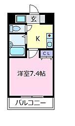 プリメール松原[2階]の間取り