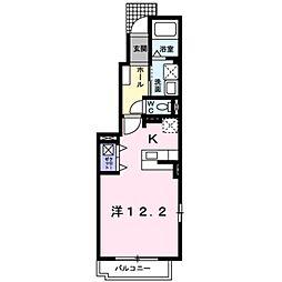 レスポアール・アン 1階1Kの間取り