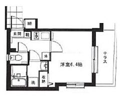 モン・シャトー中野新橋 1階1Kの間取り