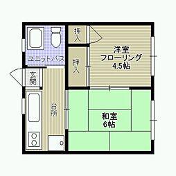 田島ハイツ[201号室]の間取り