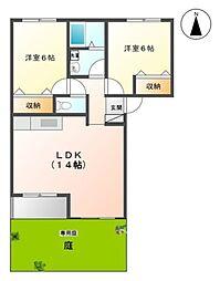埼玉県三郷市新和4丁目の賃貸アパートの間取り