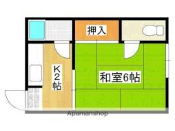 Osaka Metro今里筋線 だいどう豊里駅 徒歩5分の賃貸アパート 2階1Kの間取り