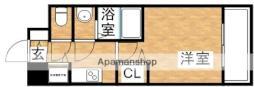 アドバンス新大阪ウエストゲート 2階1Kの間取り