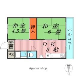 Osaka Metro長堀鶴見緑地線 横堤駅 徒歩9分の賃貸マンション 4階2DKの間取り