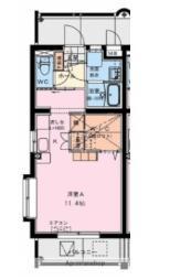 (仮称) 潮見町YMマンション 5階ワンルームの間取り