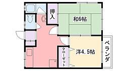 米田マンション[301号室]の間取り