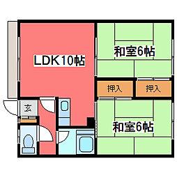 長浦ハイツB[1階]の間取り