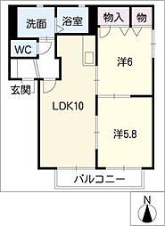 プリ−モ雁宿[2階]の間取り