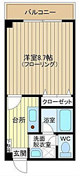 サザンコート堀ノ内[202号室]の間取り