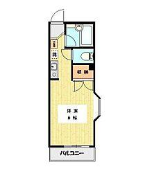 神奈川県川崎市多摩区生田8丁目の賃貸マンションの間取り