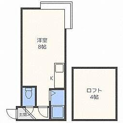 ロフティー35[2階]の間取り