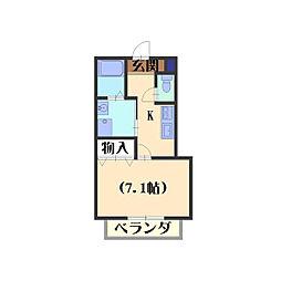 エ・マーブル[101号室]の間取り