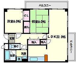 第5清涼マンション[7階]の間取り