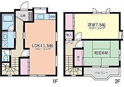 [テラスハウス] 神奈川県川崎市多摩区生田6丁目 の賃貸【/】の間取り