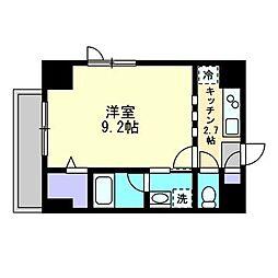 THE MODERN 桑田町 1階1Kの間取り