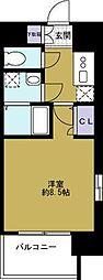 エスリード阿波座シティーウエスト[2階]の間取り