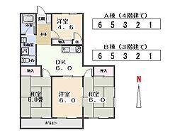 九合マンションB[101号室]の間取り