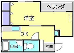 第2東洋ビル[401号号室]の間取り