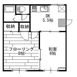第2セントラルハイツ[2階]の間取り