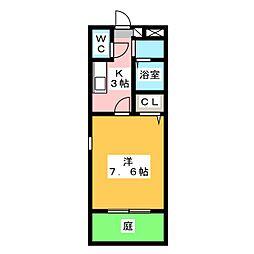 コンフォート坂下[1階]の間取り