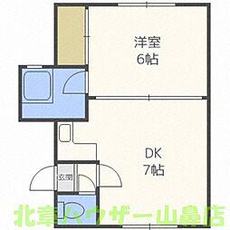 睦和ハイツ3号館[1階]の間取り