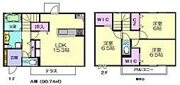 ガーデンハウスA[2階]の間取り