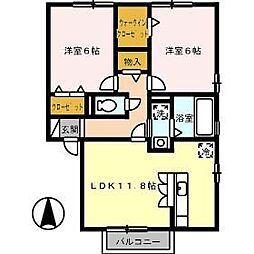 鳥取県鳥取市賀露町西3丁目の賃貸アパートの間取り