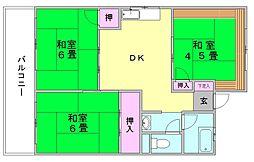 住四ビル[3階]の間取り