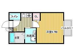 セジュールシャトレーA棟[1階]の間取り