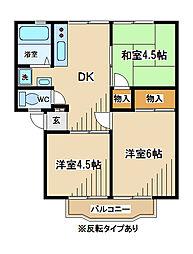東京都府中市住吉町4丁目の賃貸アパートの間取り