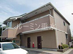 兵庫県神戸市垂水区泉が丘5の賃貸アパートの外観
